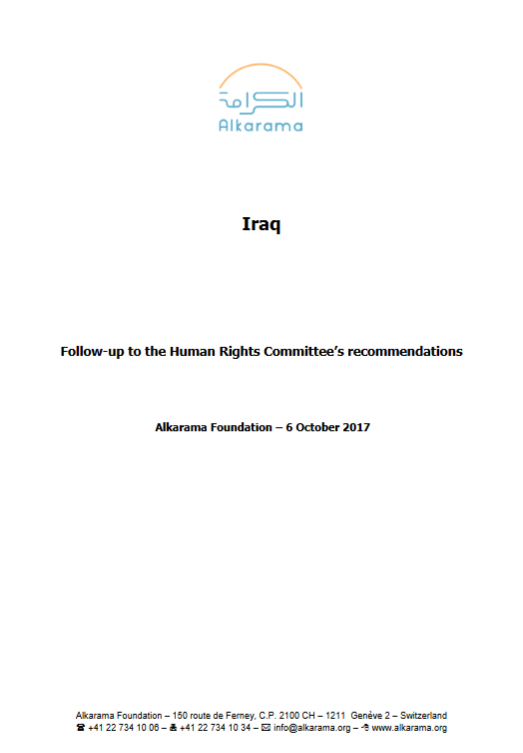 Iraq: Human Rights Committee- 5th Review